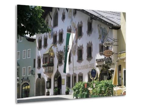 Hotel Exterior, Kitzbuhel, Tirol (Tyrol), Austria-G Richardson-Metal Print