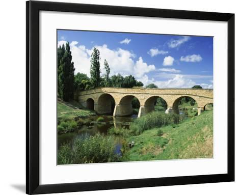 Richmond Bridge, Built in 1823, and the Oldest Road Bridge in Australia, Tasmania, Australia-G Richardson-Framed Art Print