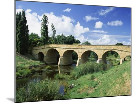 Richmond Bridge, Built in 1823, and the Oldest Road Bridge in Australia, Tasmania, Australia-G Richardson-Mounted Photographic Print