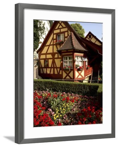 Meersburg Old Town, Bodensee, Baden-Wurttemberg, Germany-G Richardson-Framed Art Print