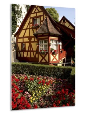 Meersburg Old Town, Bodensee, Baden-Wurttemberg, Germany-G Richardson-Metal Print