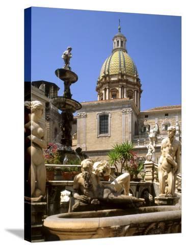 Piazza Pretoria, Palermo, Sicily, Italy-G Richardson-Stretched Canvas Print