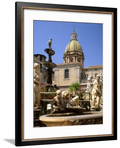 Piazza Pretoria, Palermo, Sicily, Italy-G Richardson-Framed Art Print