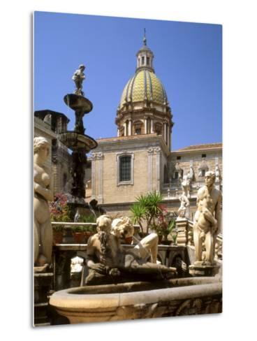 Piazza Pretoria, Palermo, Sicily, Italy-G Richardson-Metal Print