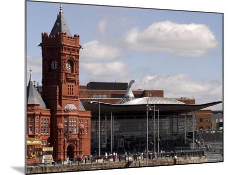 Cardiff Bay Skyline, with Pierhead Building and Welsh Assembly, Cardiff, Wales-G Richardson-Mounted Photographic Print