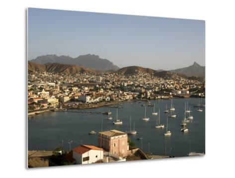 Mindelo City and Harbour, Sao Vicente, Cape Verde Islands, Atlantic, Africa-G Richardson-Metal Print