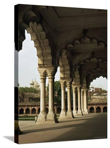 Inside the Red Fort, Agra, Unesco World Heritage Site, Uttar Pradesh, India--G Richardson-Stretched Canvas Print