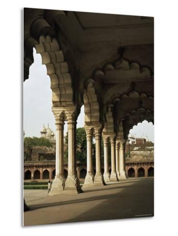 Inside the Red Fort, Agra, Unesco World Heritage Site, Uttar Pradesh, India--G Richardson-Metal Print