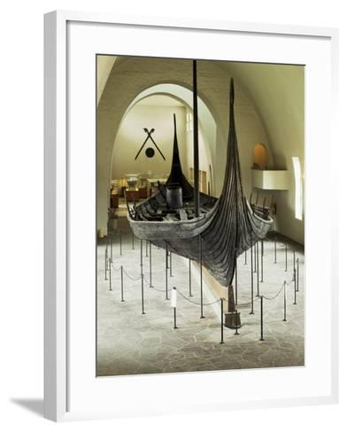 Replica of a Viking Ship, Oseberg, Oslo, Norway, Scandinavia-G Richardson-Framed Art Print
