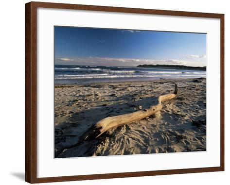 Beach and Sea at Dusk, Alnmouth, Northumberland, England, United Kingdom-Lee Frost-Framed Art Print