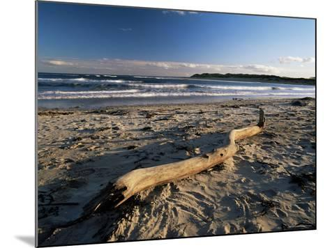 Beach and Sea at Dusk, Alnmouth, Northumberland, England, United Kingdom-Lee Frost-Mounted Photographic Print