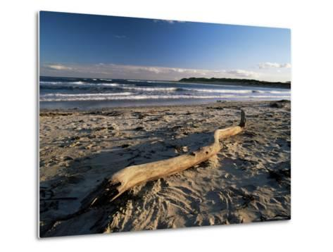 Beach and Sea at Dusk, Alnmouth, Northumberland, England, United Kingdom-Lee Frost-Metal Print