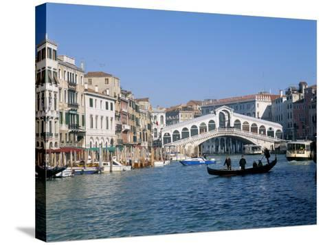 Rialto Bridge, Venice, Unesco World Heritage Site, Veneto, Italy-Lee Frost-Stretched Canvas Print