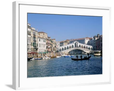 Rialto Bridge, Venice, Unesco World Heritage Site, Veneto, Italy-Lee Frost-Framed Art Print
