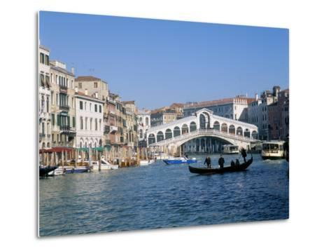 Rialto Bridge, Venice, Unesco World Heritage Site, Veneto, Italy-Lee Frost-Metal Print