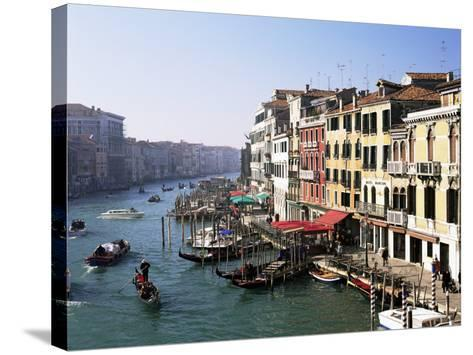 View Along the Grand Canal from Rialto Bridge, Venice, Unesco World Heritage Site, Veneto, Italy-Lee Frost-Stretched Canvas Print