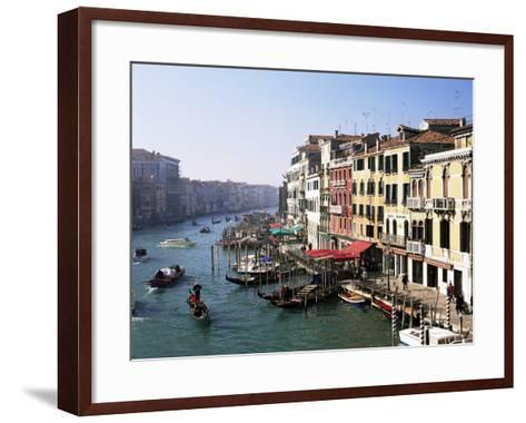 View Along the Grand Canal from Rialto Bridge, Venice, Unesco World Heritage Site, Veneto, Italy-Lee Frost-Framed Art Print