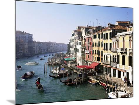 View Along the Grand Canal from Rialto Bridge, Venice, Unesco World Heritage Site, Veneto, Italy-Lee Frost-Mounted Photographic Print
