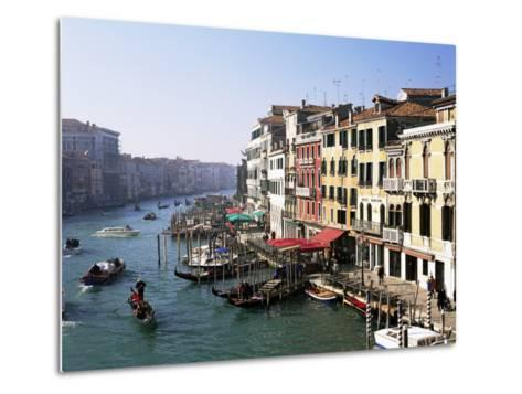 View Along the Grand Canal from Rialto Bridge, Venice, Unesco World Heritage Site, Veneto, Italy-Lee Frost-Metal Print