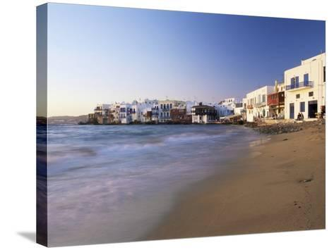 Little Venice, Mykonos Town, Island of Mykonos, Cyclades, Greece-Lee Frost-Stretched Canvas Print