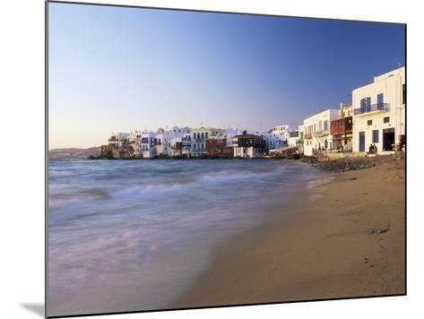 Little Venice, Mykonos Town, Island of Mykonos, Cyclades, Greece-Lee Frost-Mounted Photographic Print