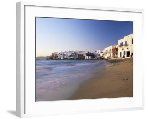 Little Venice, Mykonos Town, Island of Mykonos, Cyclades, Greece-Lee Frost-Framed Art Print