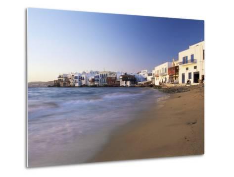 Little Venice, Mykonos Town, Island of Mykonos, Cyclades, Greece-Lee Frost-Metal Print