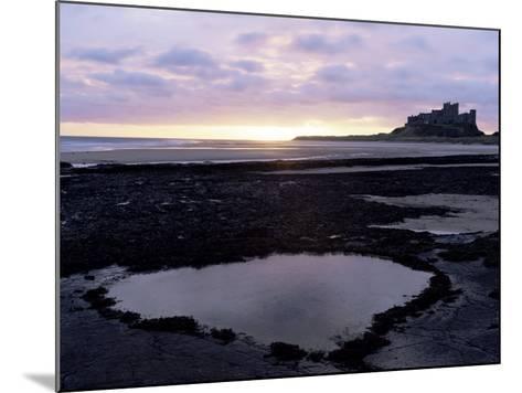 Bamburgh Castle at Sunrise, Bamburgh, Northumberland, England, United Kingdom-Lee Frost-Mounted Photographic Print