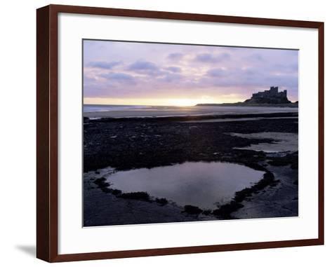 Bamburgh Castle at Sunrise, Bamburgh, Northumberland, England, United Kingdom-Lee Frost-Framed Art Print