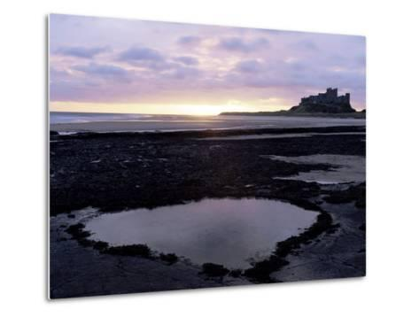 Bamburgh Castle at Sunrise, Bamburgh, Northumberland, England, United Kingdom-Lee Frost-Metal Print