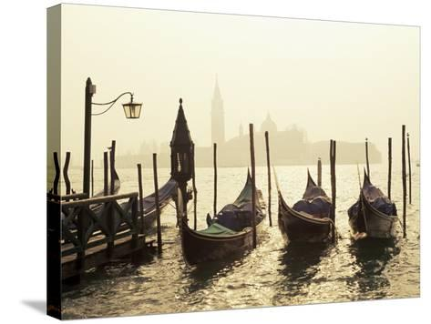 View Across Lagoon Towards San Giorgio Maggiore, from St. Mark's, Venice, Veneto, Italy-Lee Frost-Stretched Canvas Print