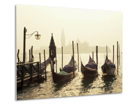 View Across Lagoon Towards San Giorgio Maggiore, from St. Mark's, Venice, Veneto, Italy-Lee Frost-Metal Print