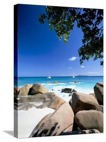 Beach, Anse Lazio, Island of Praslin, Seychelles, Indian Ocean, Africa-Lee Frost-Stretched Canvas Print
