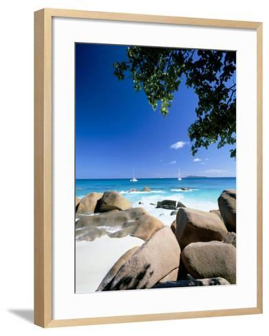 Beach, Anse Lazio, Island of Praslin, Seychelles, Indian Ocean, Africa-Lee Frost-Framed Art Print