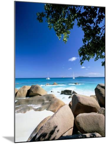 Beach, Anse Lazio, Island of Praslin, Seychelles, Indian Ocean, Africa-Lee Frost-Mounted Photographic Print