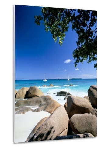 Beach, Anse Lazio, Island of Praslin, Seychelles, Indian Ocean, Africa-Lee Frost-Metal Print