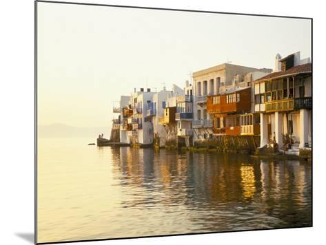Little Venice at Sunset, Mykonos Town, Mykonos, (Mikonos), Greek Islands, Greece-Lee Frost-Mounted Photographic Print