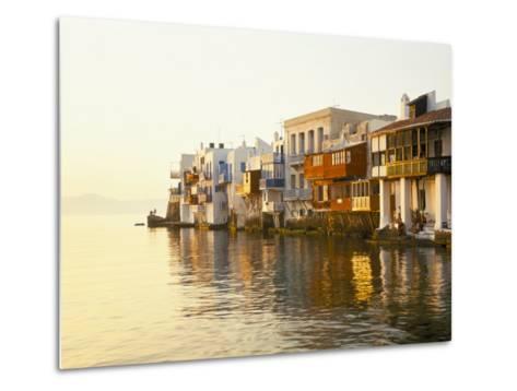Little Venice at Sunset, Mykonos Town, Mykonos, (Mikonos), Greek Islands, Greece-Lee Frost-Metal Print