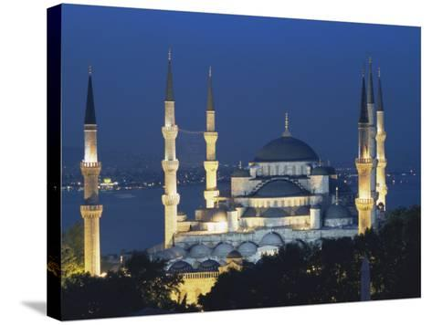 Blue Mosque (Sultan Ahmet Mosque) at Night, Istanbul, Turkey-Lee Frost-Stretched Canvas Print