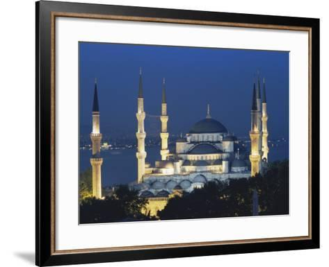 Blue Mosque (Sultan Ahmet Mosque) at Night, Istanbul, Turkey-Lee Frost-Framed Art Print