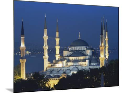 Blue Mosque (Sultan Ahmet Mosque) at Night, Istanbul, Turkey-Lee Frost-Mounted Photographic Print