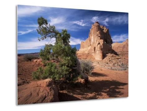 Sandstone Cliffs, Arches National Park, Moab, Utah, USA-Lee Frost-Metal Print