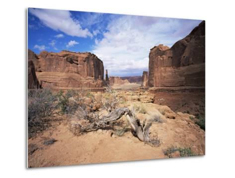 Park Avenue, Arches National Park, Moab, Utah, USA-Lee Frost-Metal Print