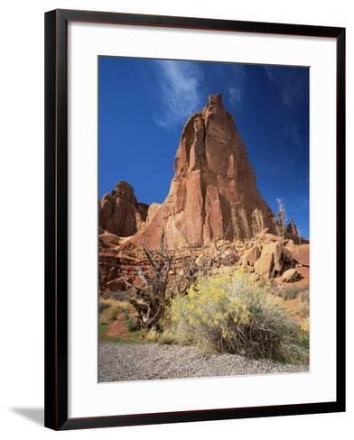 Sandstone Cliffs, Arches National Park, Moab, Utah, USA-Lee Frost-Framed Art Print