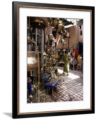 Handicraft Souk, Marrakech, Morocco, North Africa, Africa-Michael Jenner-Framed Art Print