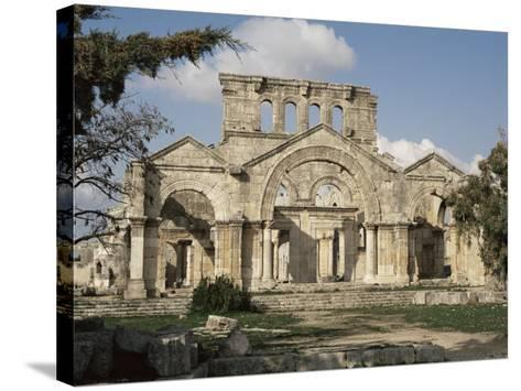 Basilica of St. Simeon, Qalaat Samaan, Syria, Middle East-David Poole-Stretched Canvas Print