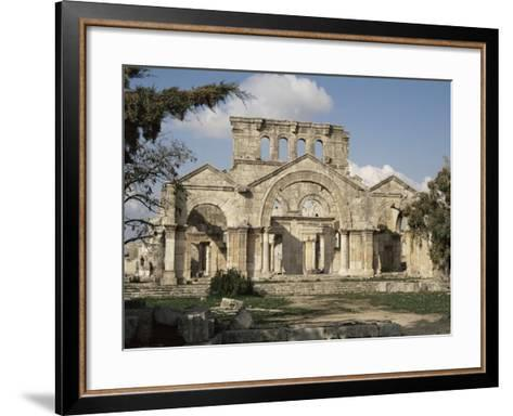 Basilica of St. Simeon, Qalaat Samaan, Syria, Middle East-David Poole-Framed Art Print