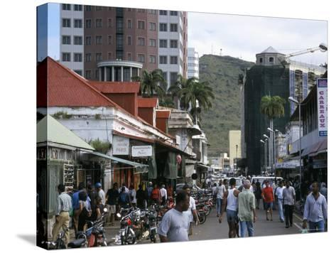 Street Scene, Farquhar Street, Port Louis, Mauritius, Indian Ocean, Africa-David Poole-Stretched Canvas Print