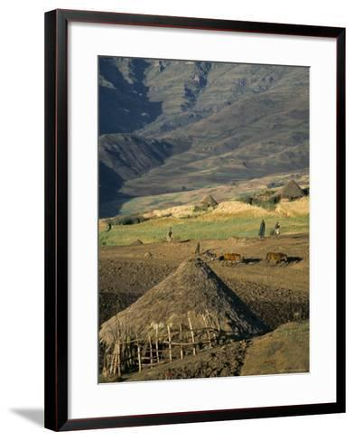 Debirichwa Village in Early Morning, Simien Mountains National Park, Ethiopia-David Poole-Framed Art Print