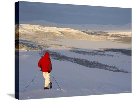 View Over Frozen Lake Furusjoen, Rondablikk, Norrway, Scandinavia-David Poole-Stretched Canvas Print